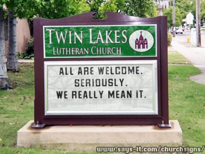 Image result for church sign all are welcome