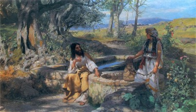 Image result for jesus and the samaritan woman at the well